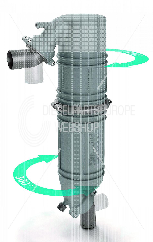 Geluiddemper / Zwanenhals type NLPG, kunststof, 45mm