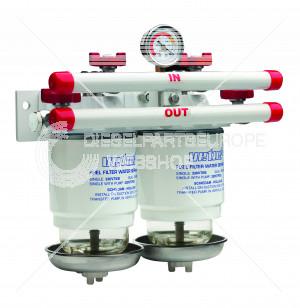 Brandstoffilter/waterafscheider CE/ABYC dubbel 10 micron, to